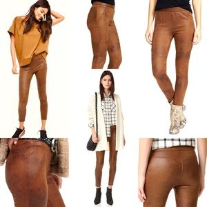 FREE PEOPLE Never Let Go Faux vegan Leather Pants